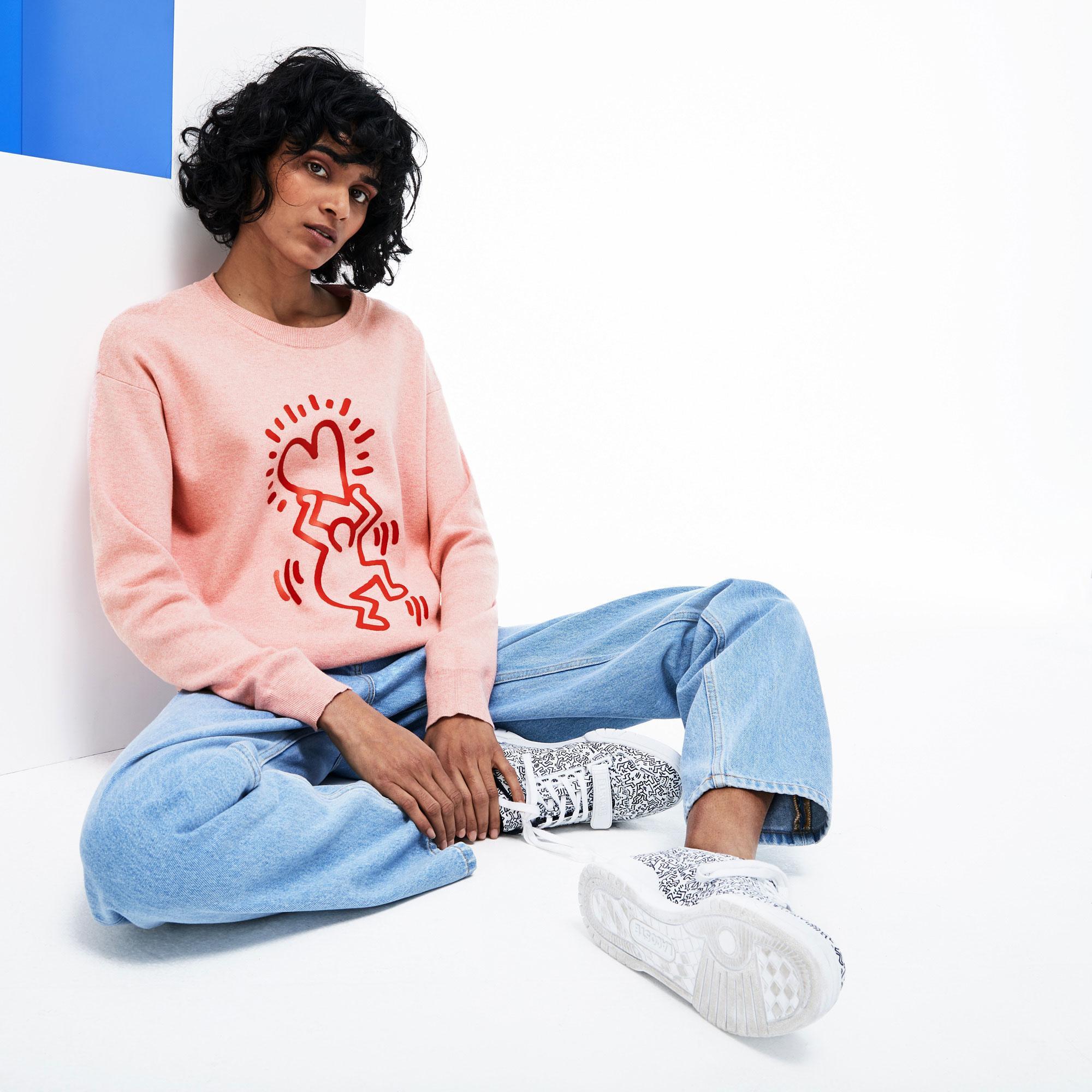 Lacoste X Keith Haring Kadın Pembe Triko