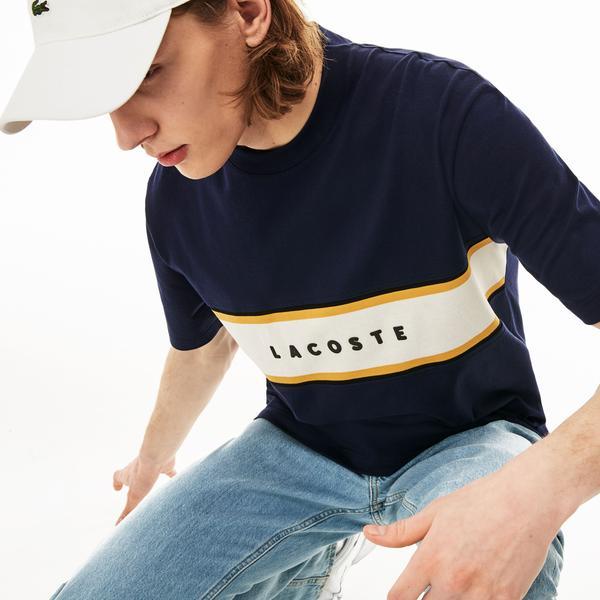 Lacoste Erkek Relax Fit Lacivert T-Shirt