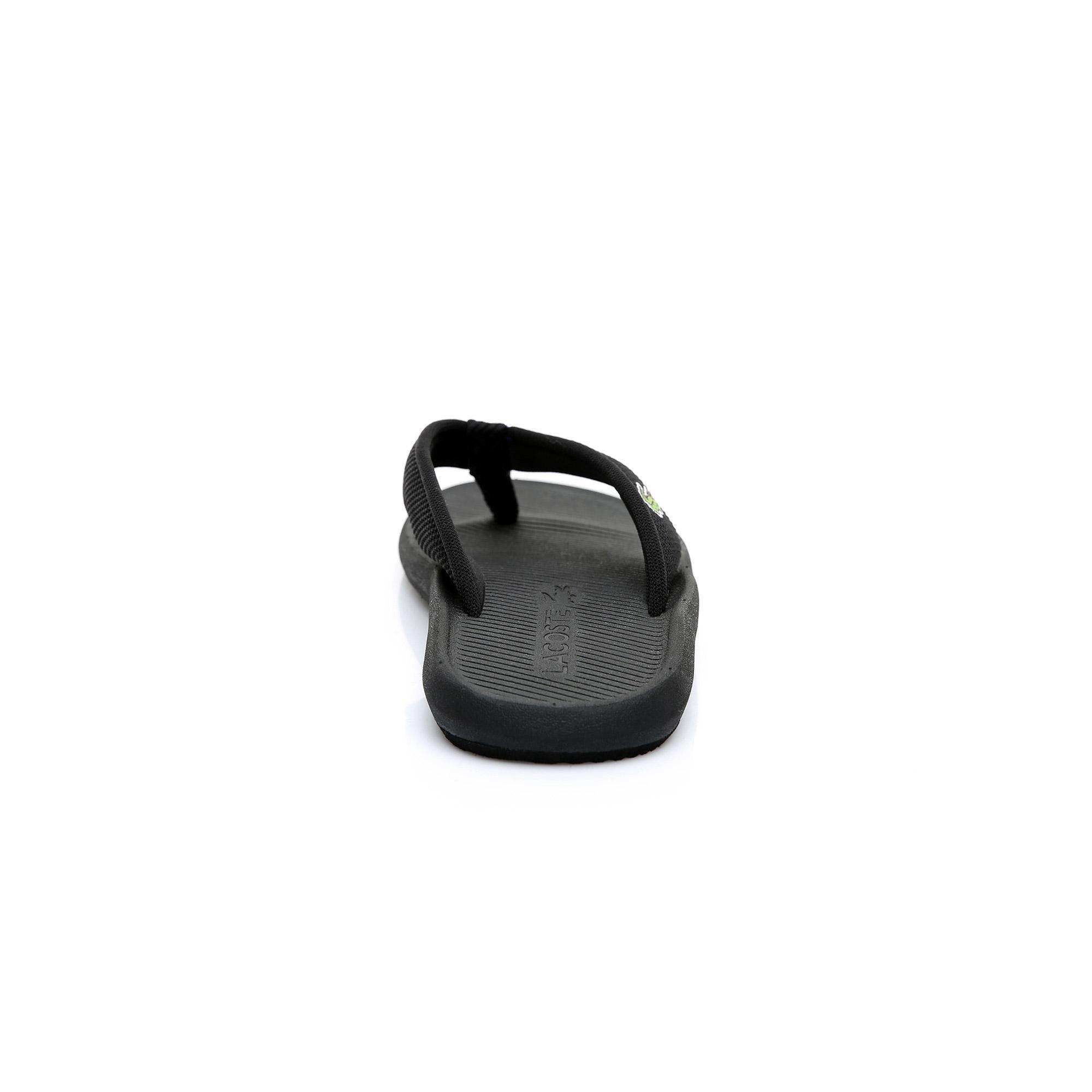 Lacoste Erkek Siyah Croco Sandal 219 2 Casual Parmak Arası Terlik