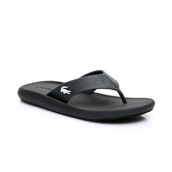 Lacoste Kadın Siyah - Beyaz Croco Sandal 219 1 Casual Parmak Arası Terlik