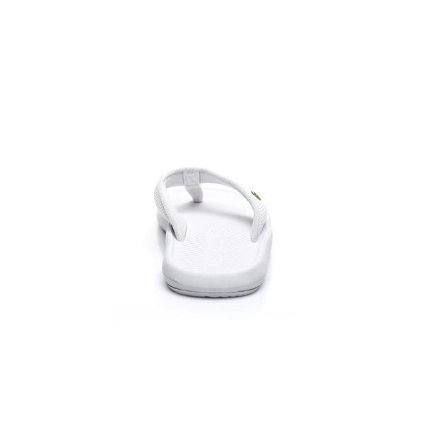 Lacoste Erkek Beyaz Croco Sandal 219 2 Casual Parmak Arası Terlik