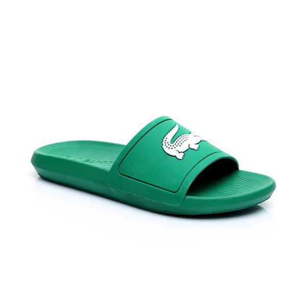 Lacoste Erkek Yeşil - Beyaz Croco Slide 119 1 Casual Terlik