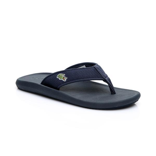 Lacoste Erkek Lacivert Croco Sandal 219 2 Casual Parmak Arası Terlik