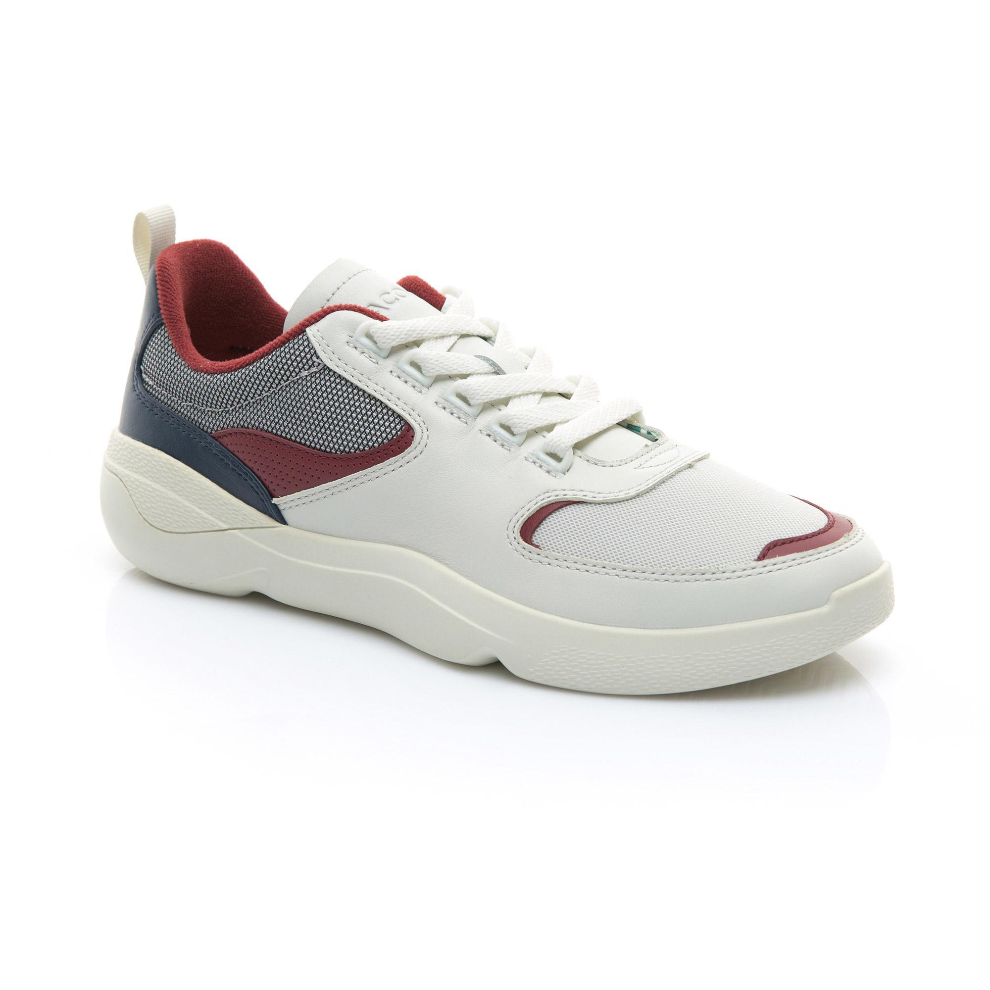Lacoste Erkek Bej - Koyu Kirmizi Wildcard 119 1 Sneaker