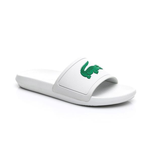 Lacoste Erkek Beyaz - Yeşil Croco Slide 119 1 Casual Terlik