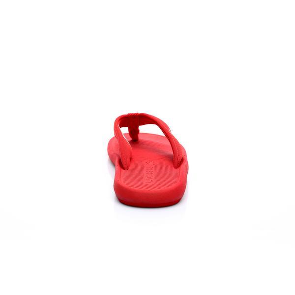 Lacoste Erkek Kırmızı Croco Sandal 219 2 Casual Parmak Arası Terlik