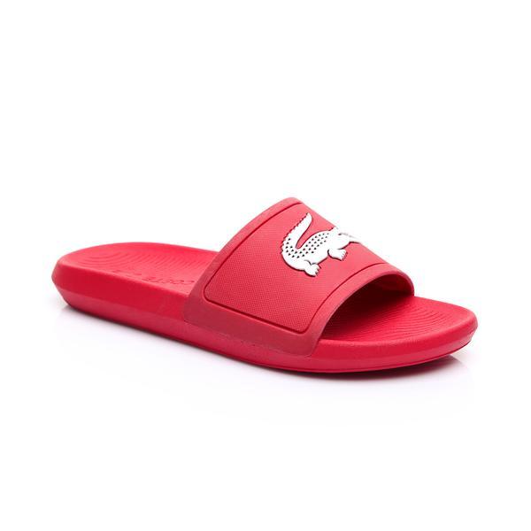 Lacoste Erkek Kırmızı - Beyaz Croco Slide 119 1 Casual Terlik
