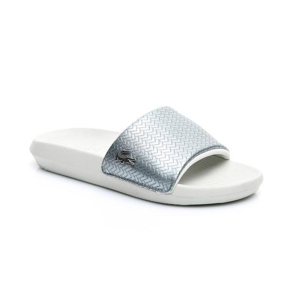 Lacoste Kadın Gümüş - Bej Croco Slide 119 6 Casual Terlik