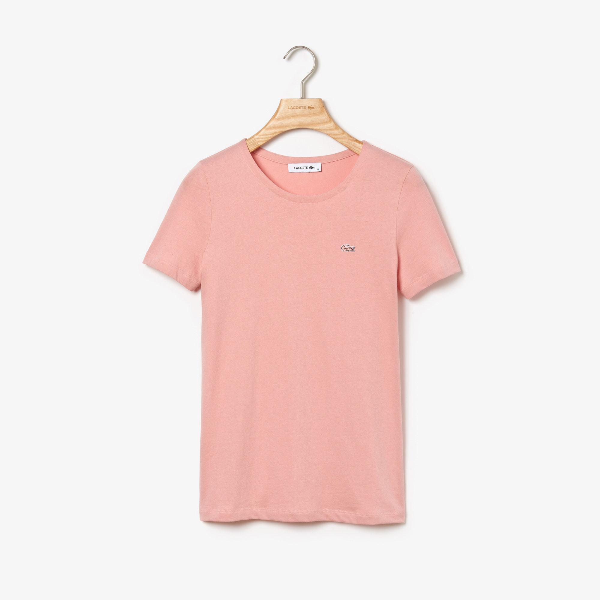 Lacoste Kadın Regular Fit Pembe T-Shirt