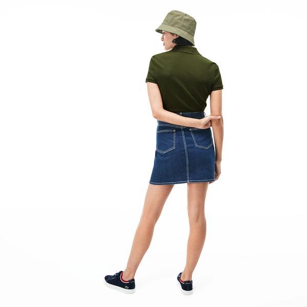 Lacoste Kadın Slim Fit Haki Polo