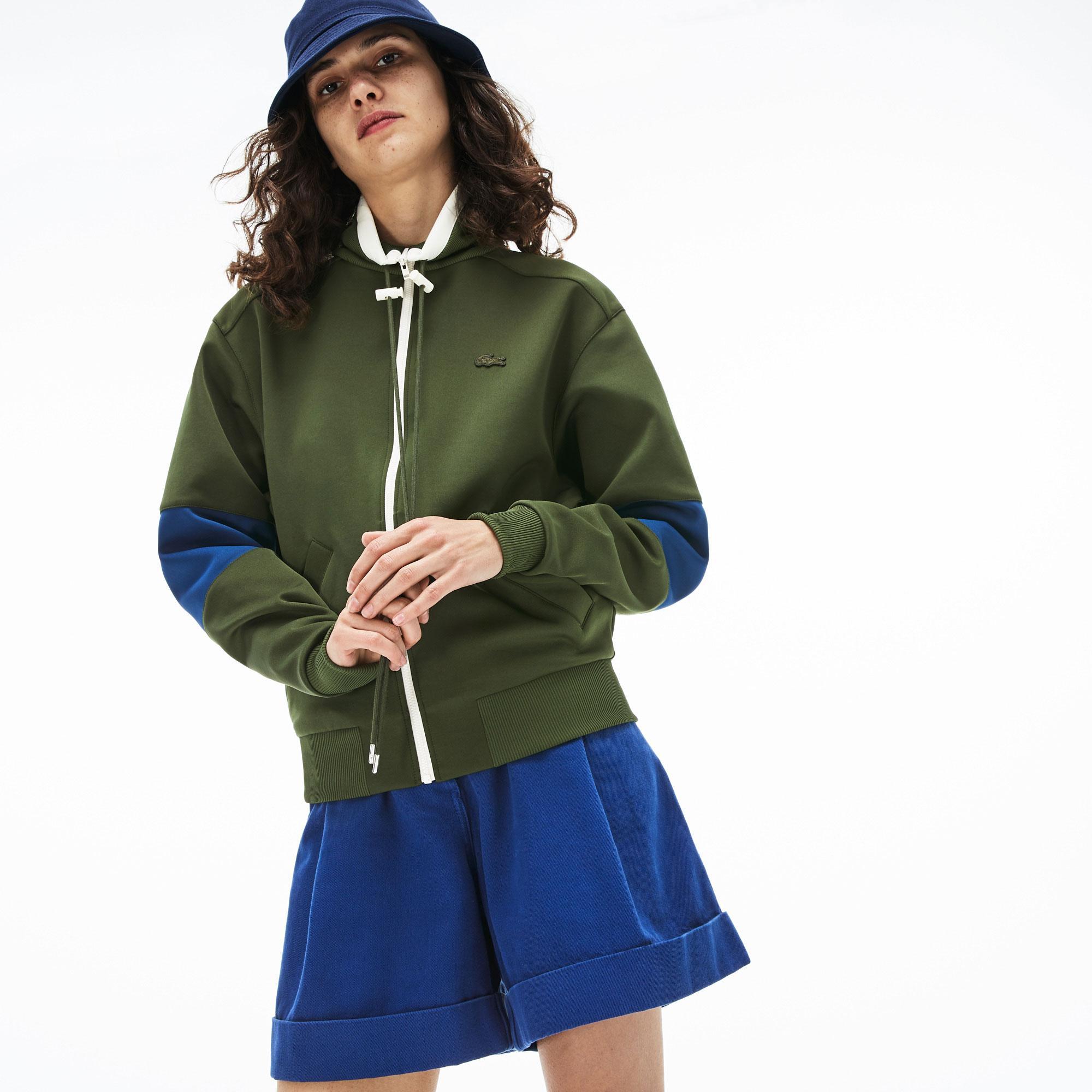 Lacoste Kadın Desenli Haki Sweatshirt