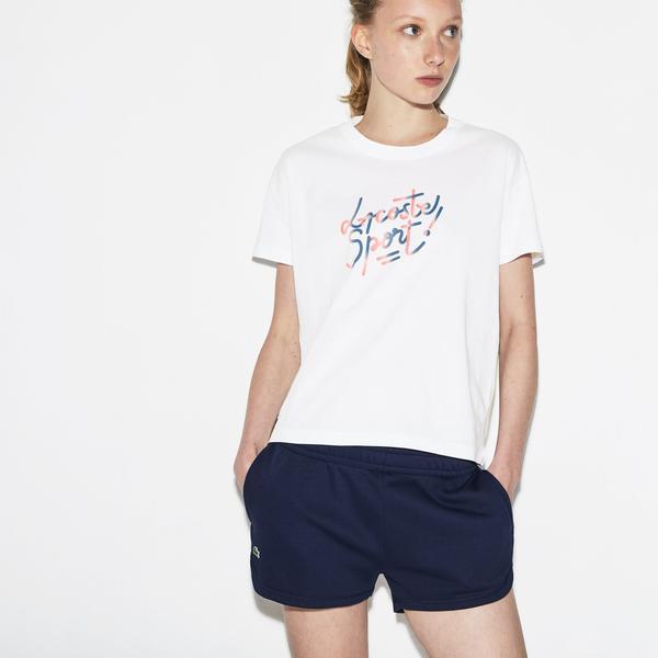 Lacoste Sport Kadın Beyaz T-Shirt