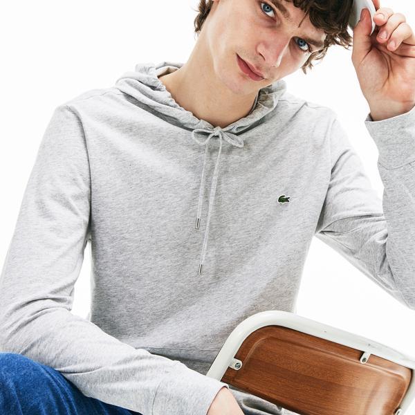 Lacoste Erkek Gri Uzun Kollu T-shirt