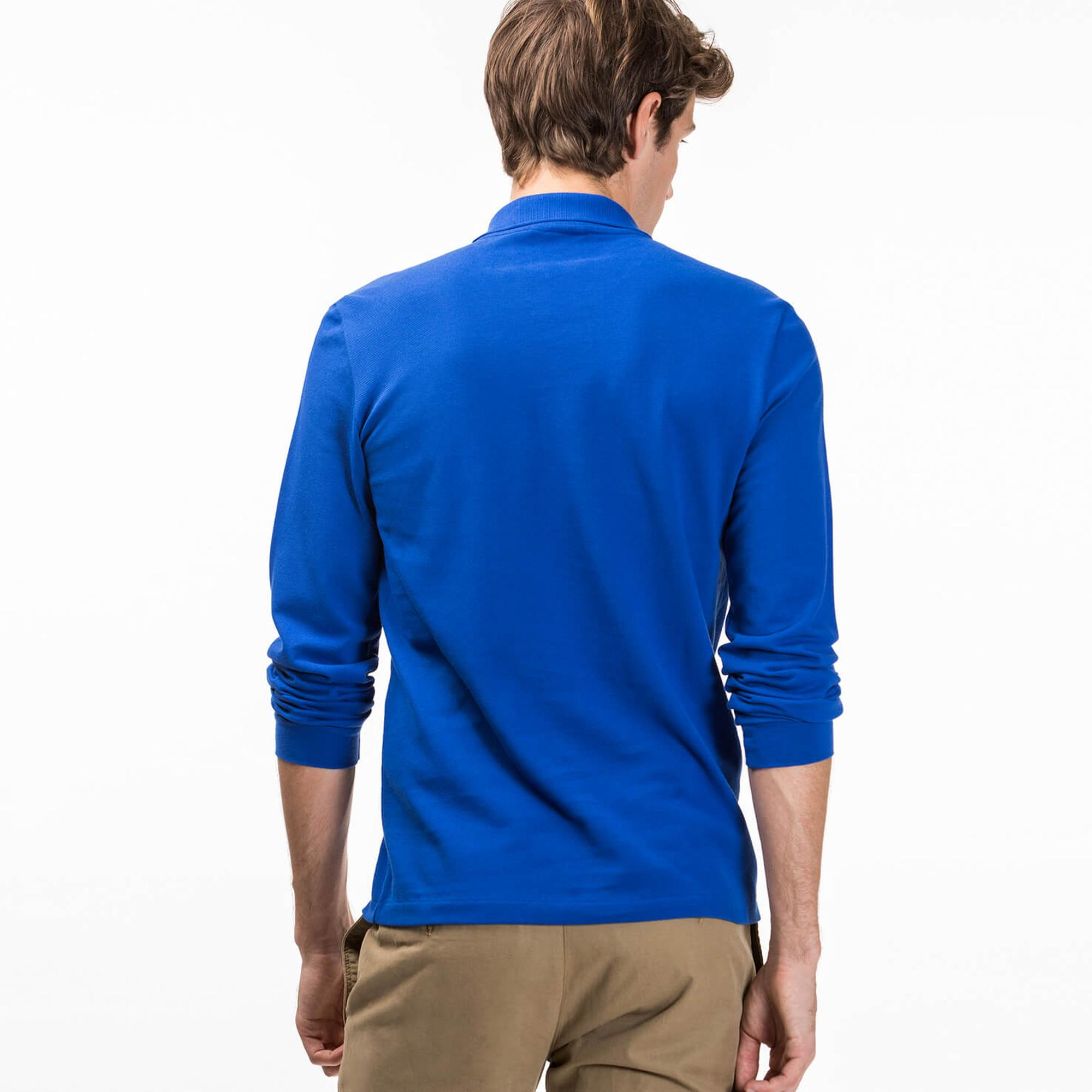 Lacoste Mavi Uzun Kollu Erkek Polo