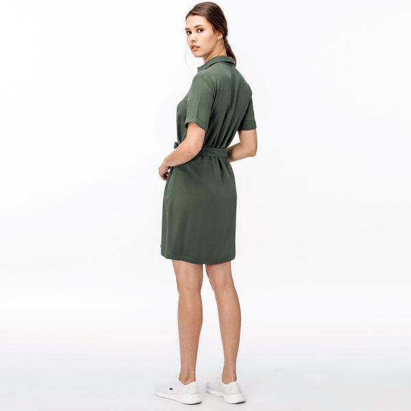 d3102924c025b Lacoste Kadın Yeşil Gömlek Elbise Lacoste Kadın Yeşil Gömlek Elbise