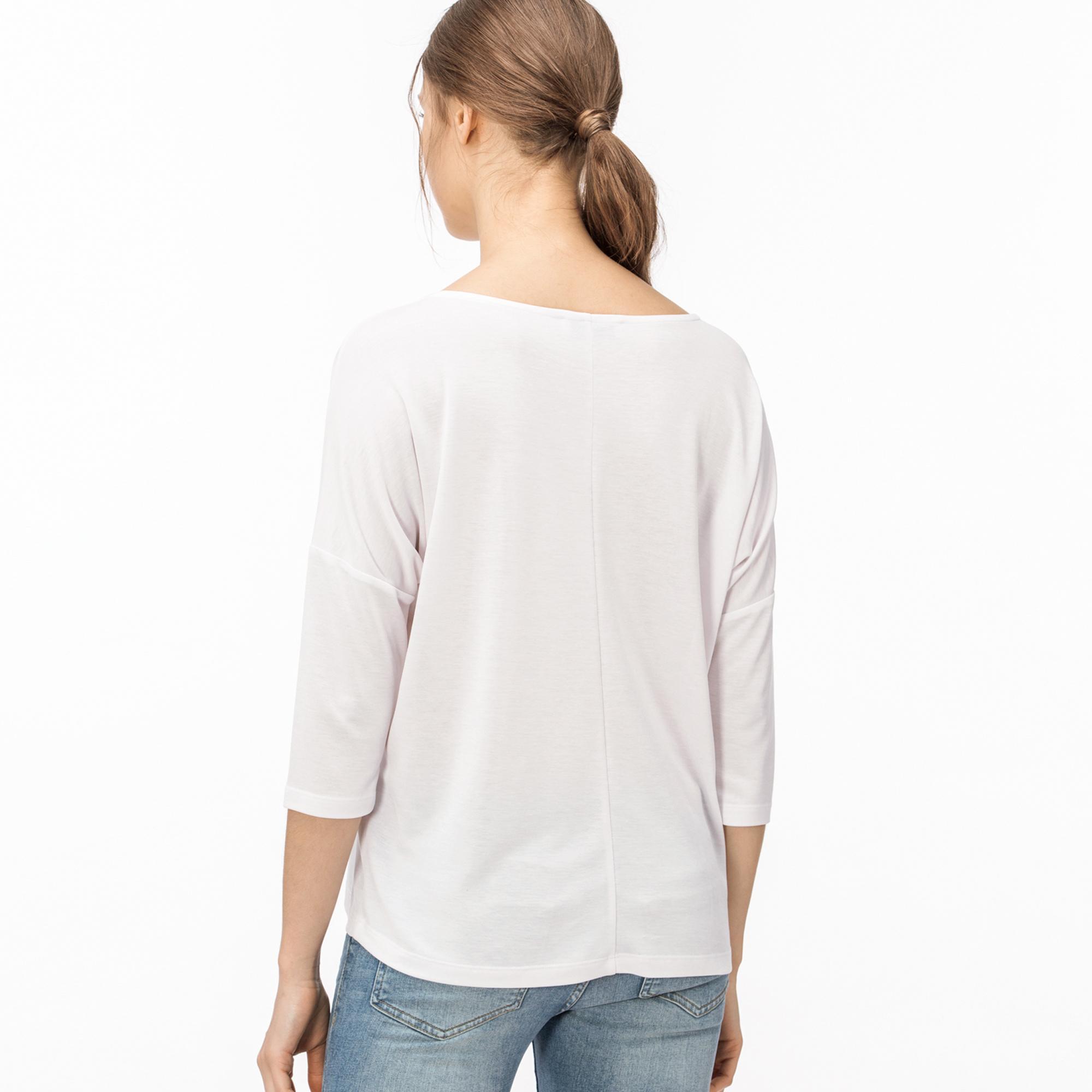 Lacoste Kadın Beyaz T-Shirt