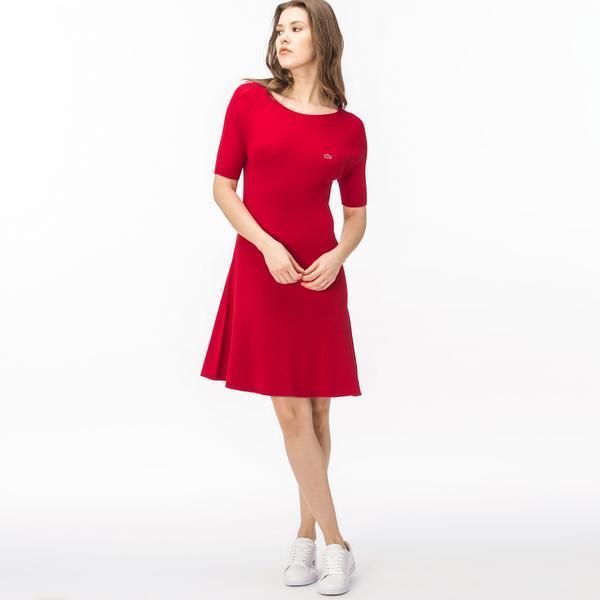 Lacoste Kadın Kırmızı Elbise