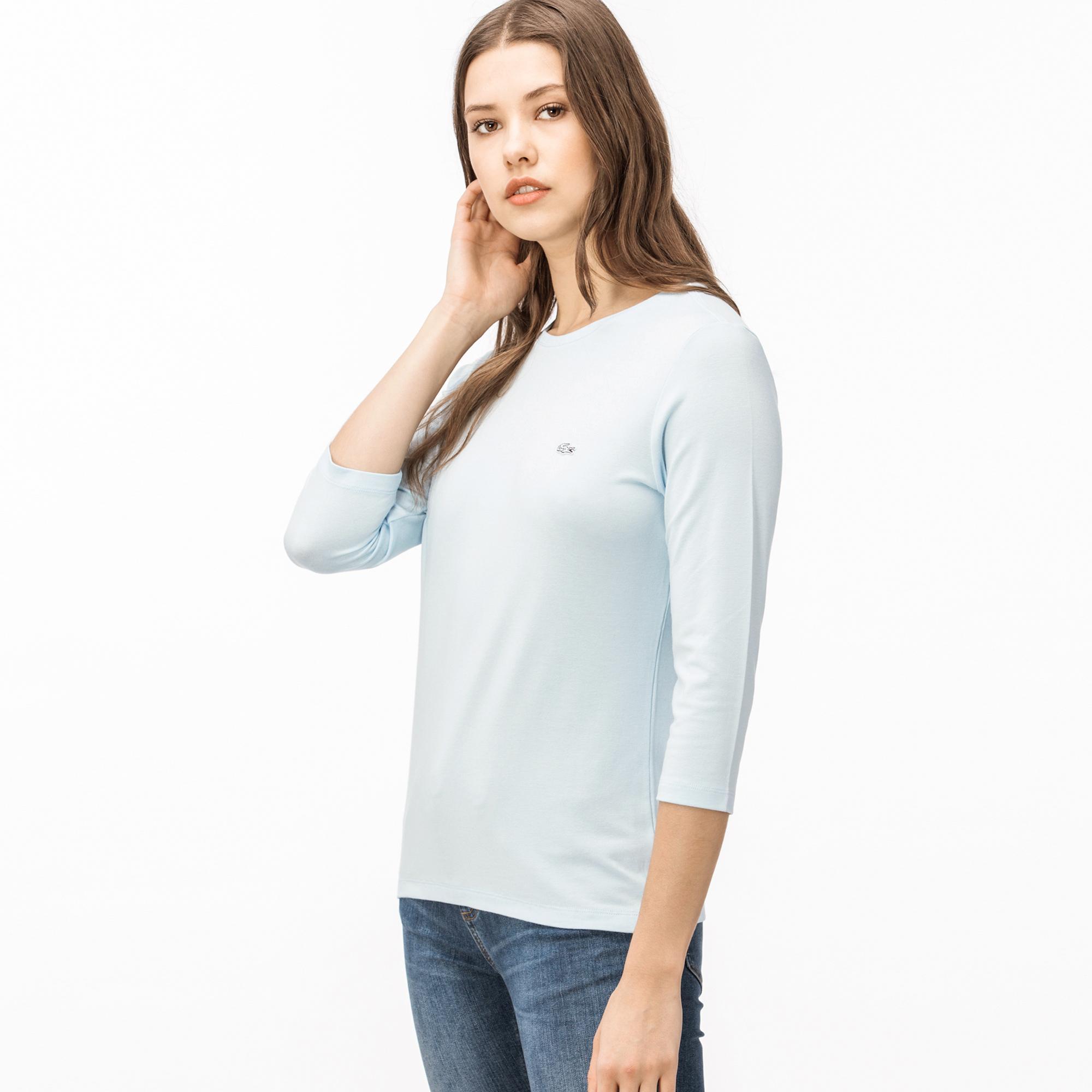 Lacoste Kadın Uzun Kollu Açık Mavi T-Shirt