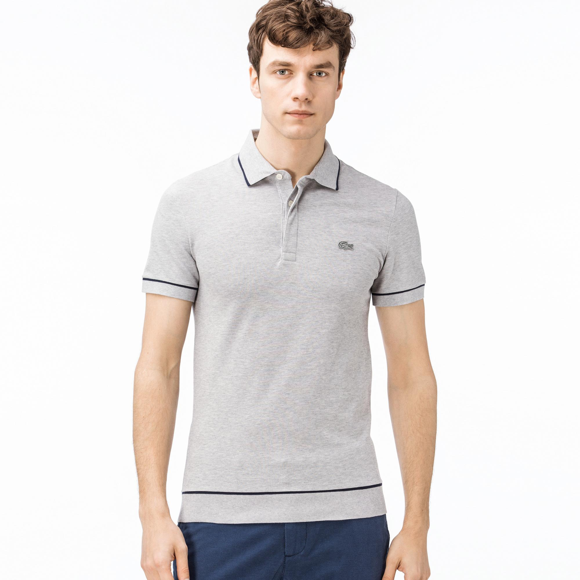 Lacoste Erkek Regular Fit Gri Polo
