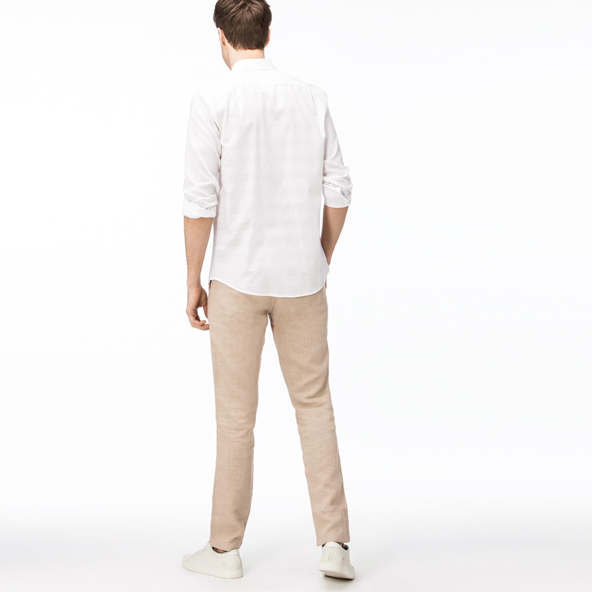 Lacoste Erkek Regular Fit Açık Kahverengi Pantolon