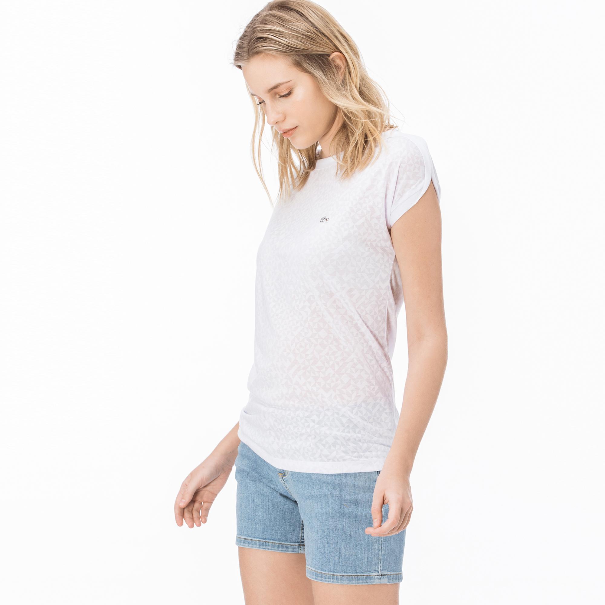 Lacoste Kadın Beyaz Bluz