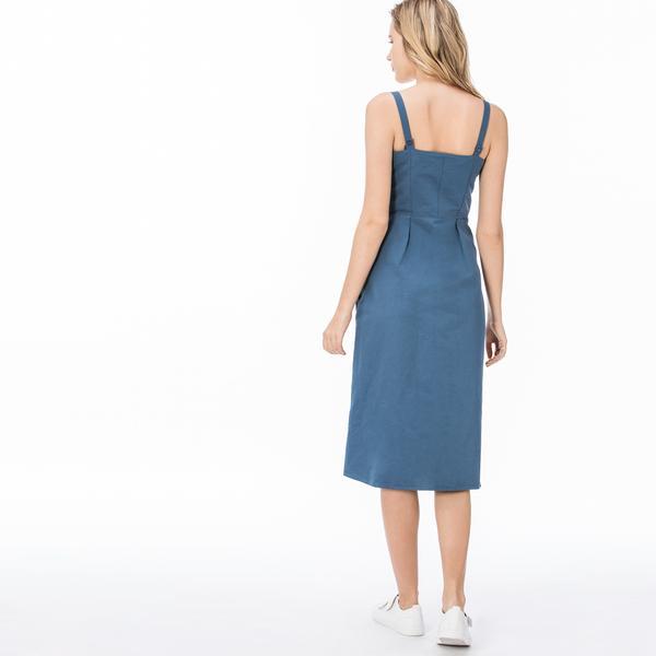 Lacoste Kadın Askılı Mavi Elbise