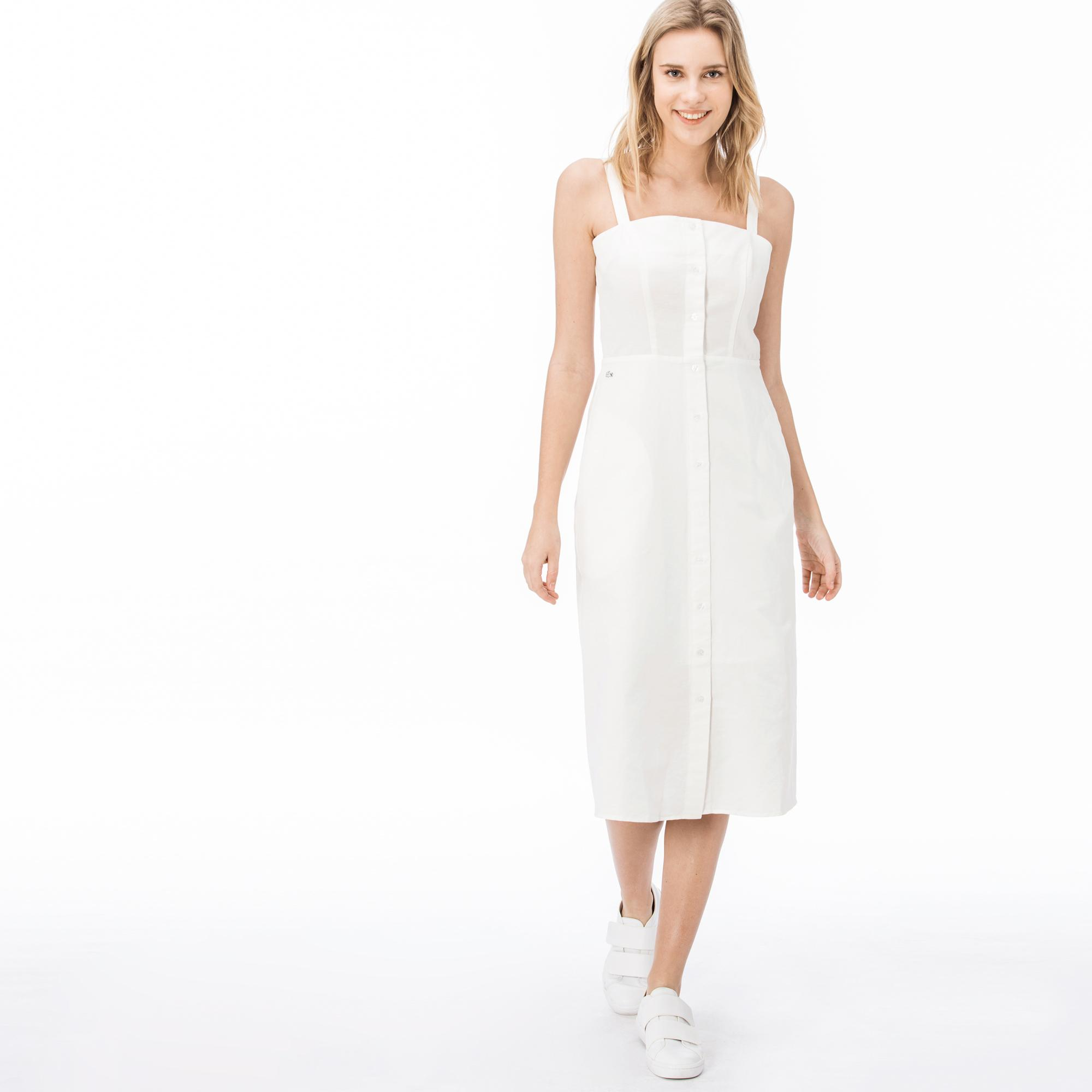 Lacoste Kadın Askılı Bej Elbise