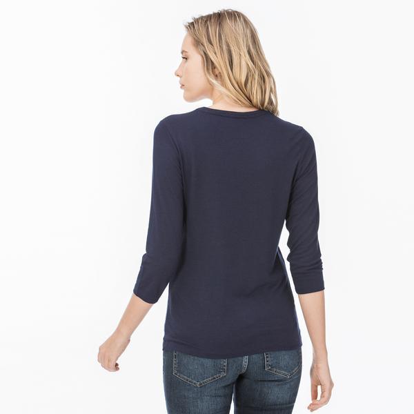 Lacoste Kadın Lacivert Uzun Kollu T-Shirt