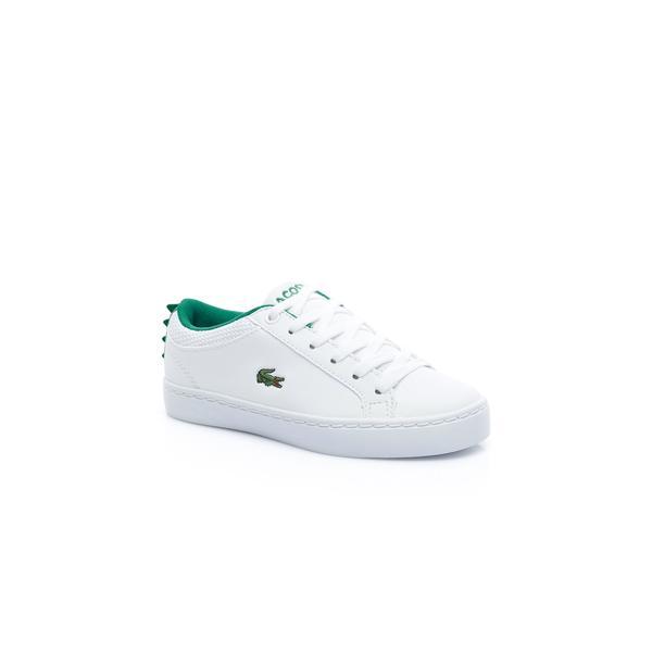 Lacoste Çocuk Beyaz - Yeşil Straightset 119 1 Casual Ayakkabı