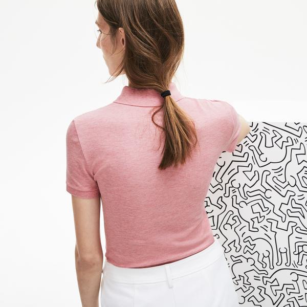 Lacoste X Keith Haring Kadın Pembe Polo