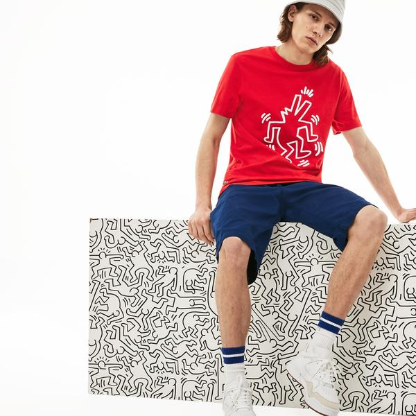 Lacoste X Keith Haring Erkek Regular Fit Kırmızı T-Shirt