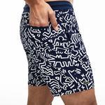 Lacoste X Keith Haring Erkek Lacivert-Beyaz Şort Mayo