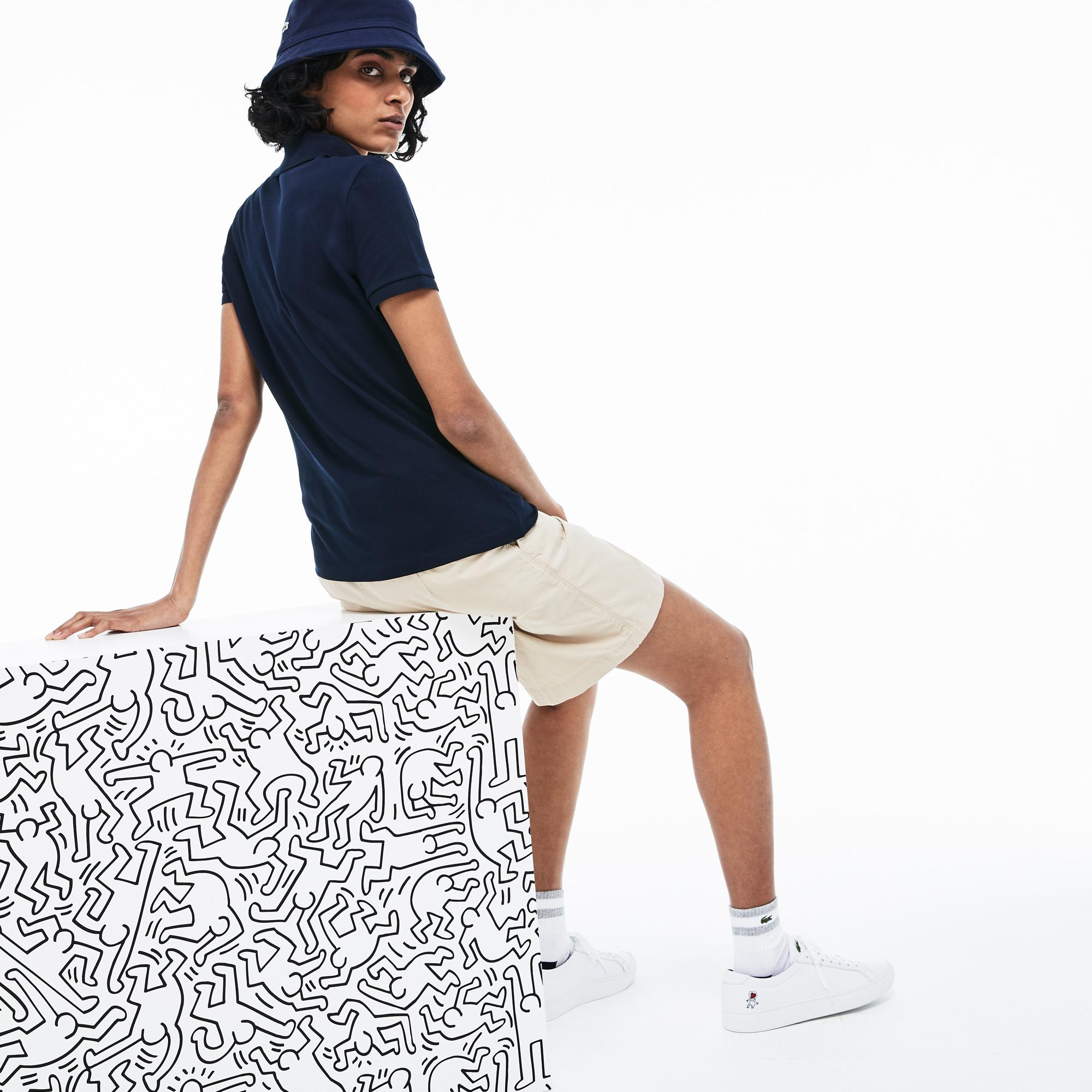 Lacoste X Keith Haring Kadın Lacivert Polo