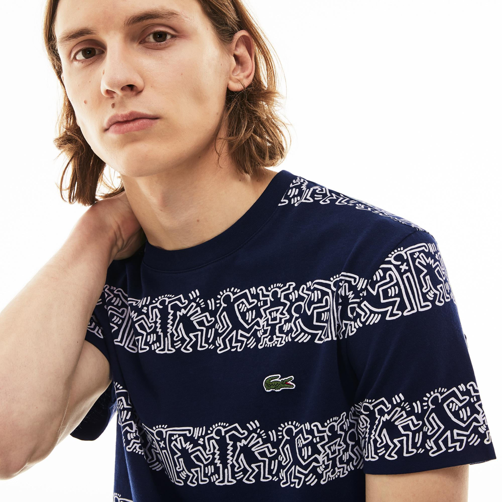 3f171d32 Lacoste X Keith Haring Erkek Lacivert T-Shirt TH4297-166 | Lacoste