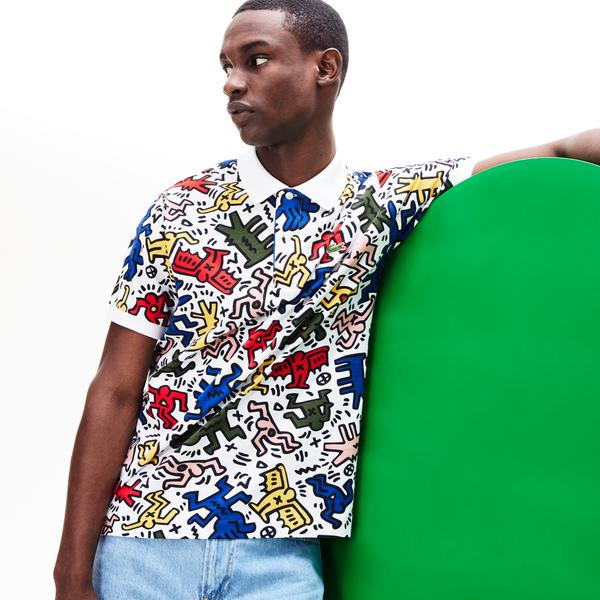 Lacoste X Keith Haring Erkek Klasik Fit Renkli Polo