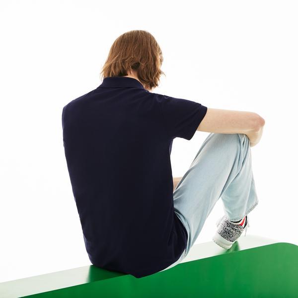 Lacoste X Keith Haring Erkek Regular Fit Lacivert Polo