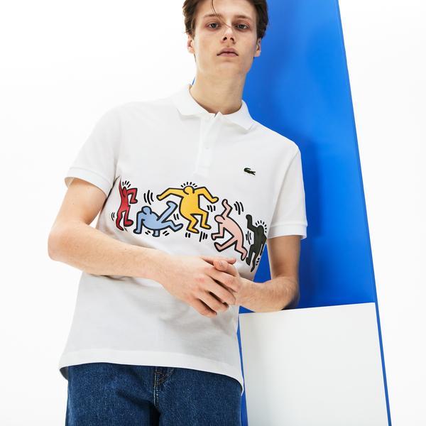 Lacoste X Keith Haring Erkek Regular Fit Beyaz Polo