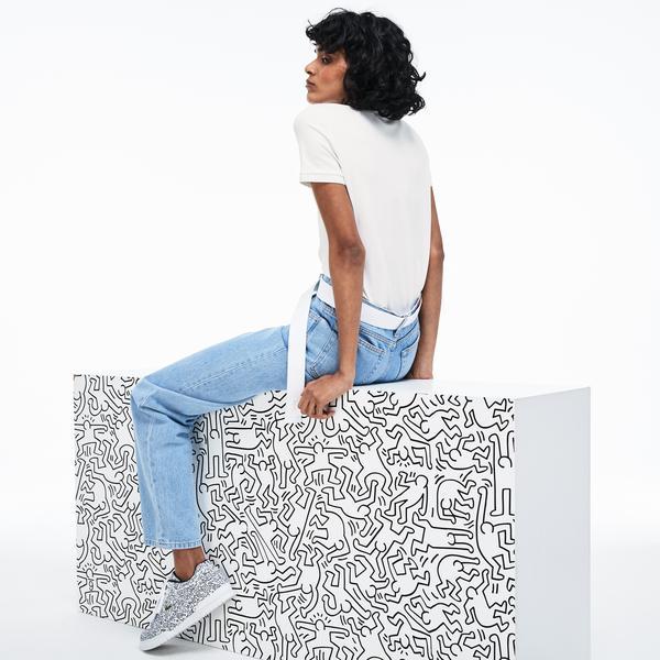 Lacoste X Keith Haring Kadın Beyaz Polo