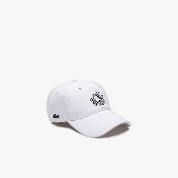 Lacoste X Keith Haring Unisex Beyaz Şapka
