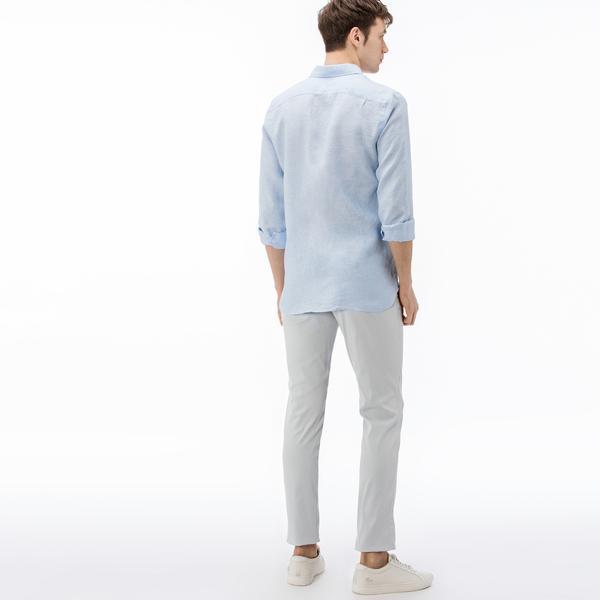 Lacoste Erkek Slim Fit Açık Gri Pantolon