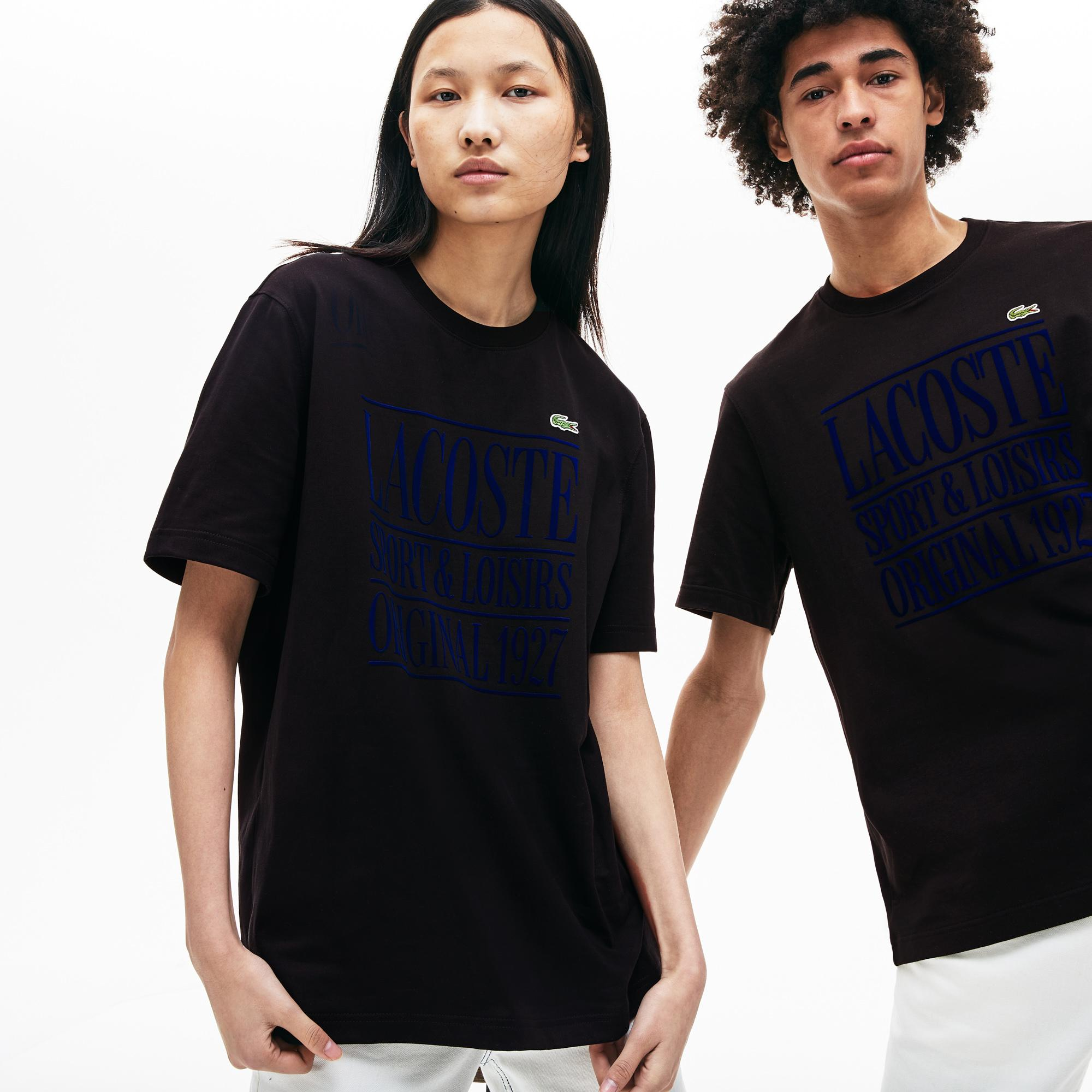 Lacoste L!ve Unisex Regular Fit Bisiklet Yaka Siyah T-Shirt