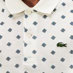 Lacoste L!ve Erkek Slim Fit Desenli Beyaz Polo