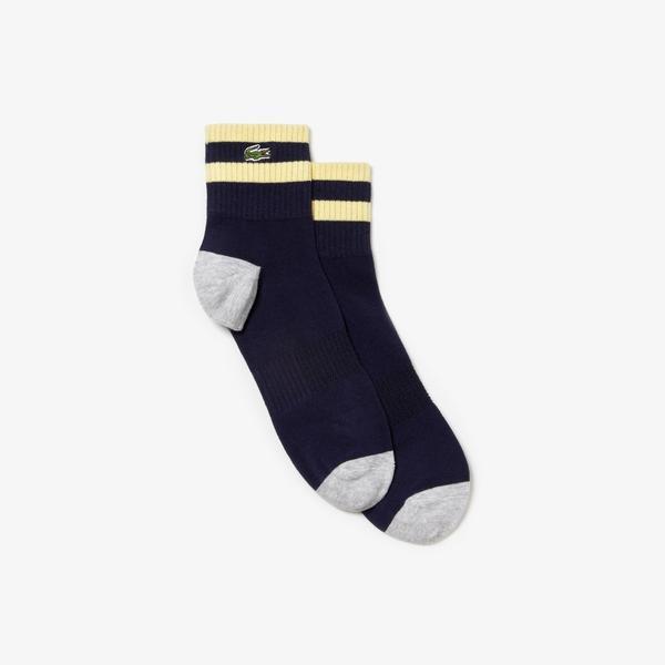 Lacoste Unisex Lacivert - Gri Çorap