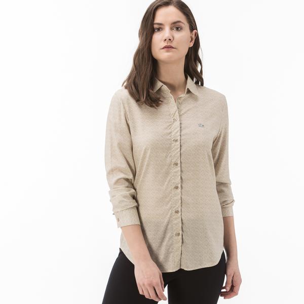 Lacoste Kadın Açık Kahverengi Gömlek
