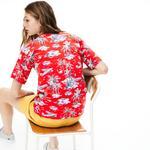 Lacoste Kadın Desenli Kırmızı T-Shirt