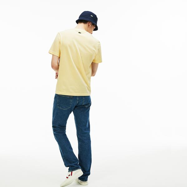 Lacoste Erkek Regular Fit Lacoste Baskılı Sarı T-Shirt