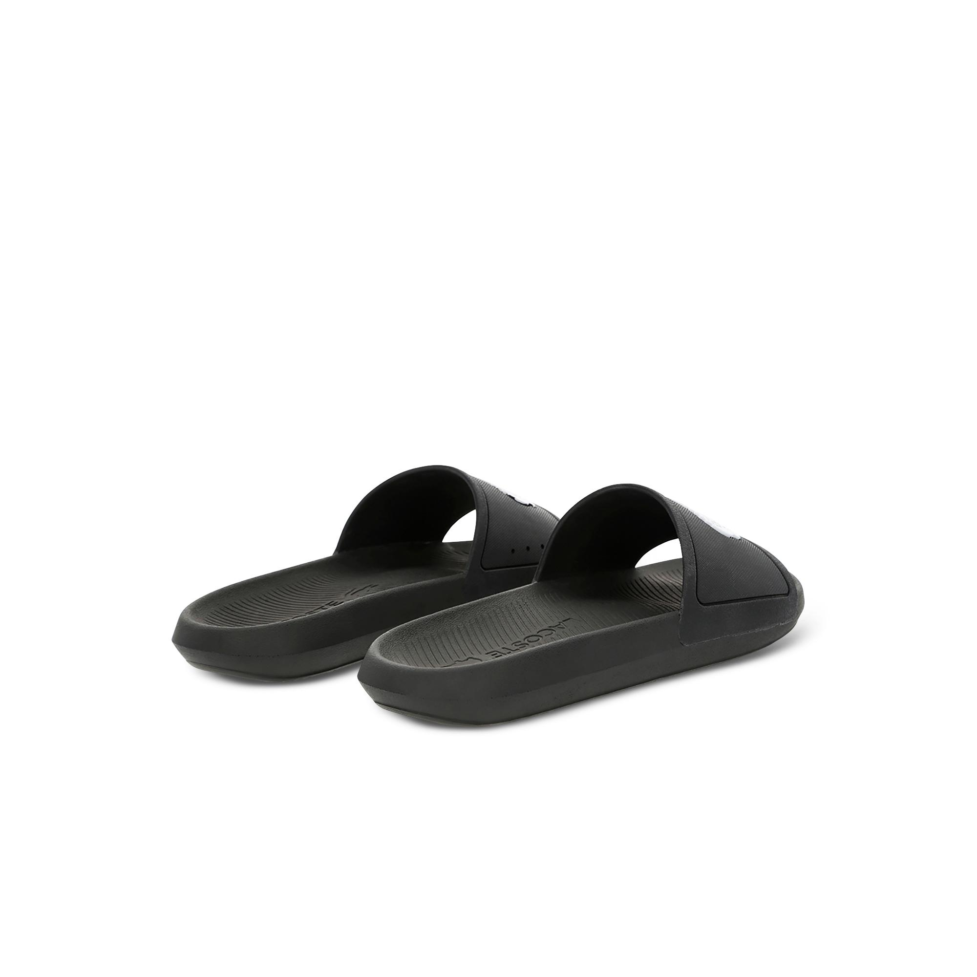 Lacoste Croco Slide 119 1 Cma Erkek Siyah - Beyaz Terlik