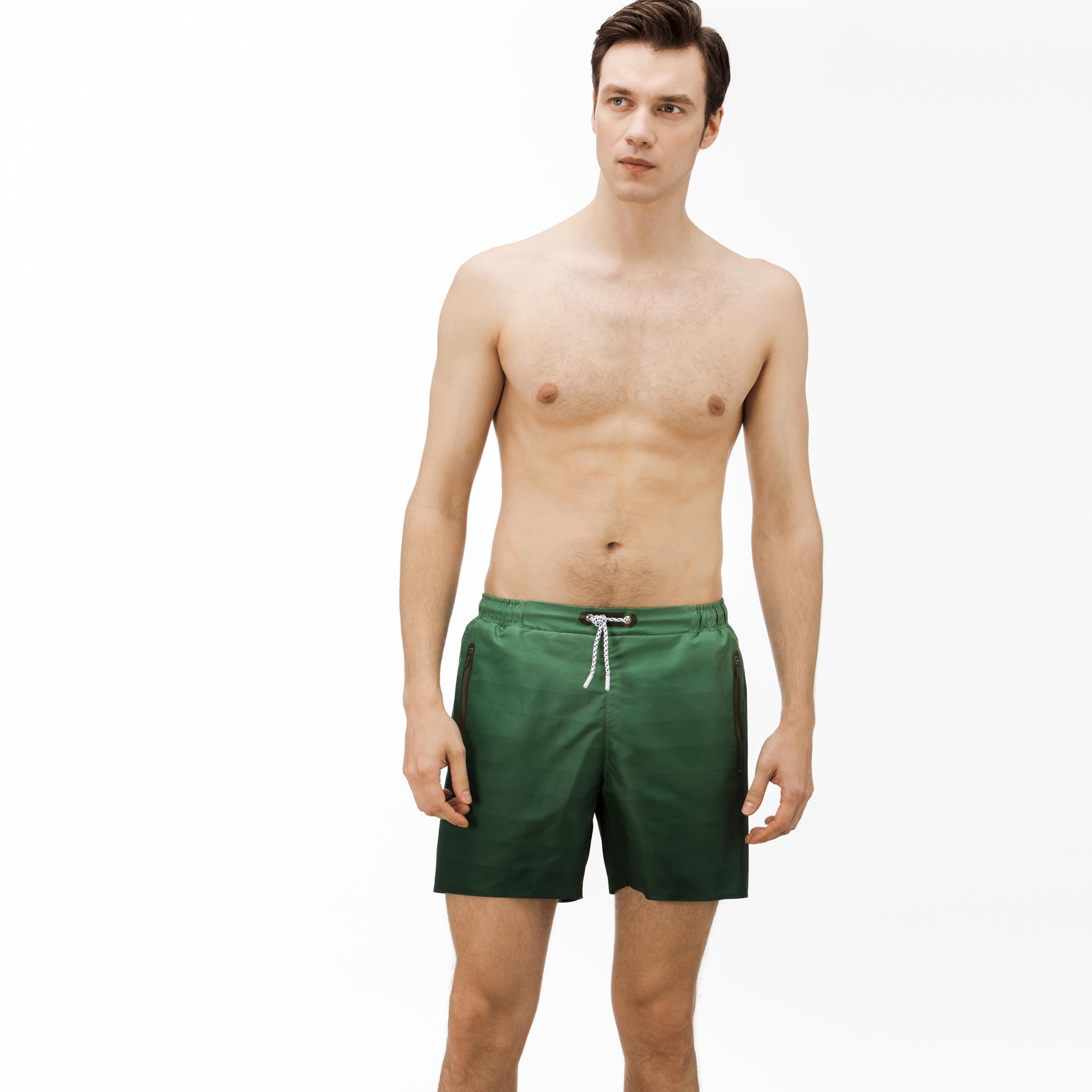 Lacoste Erkek Degrade Yeşil Şort Mayo