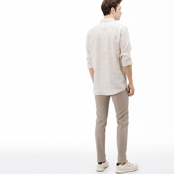 Lacoste Erkek Slim Fit Gri Denim Pantolon