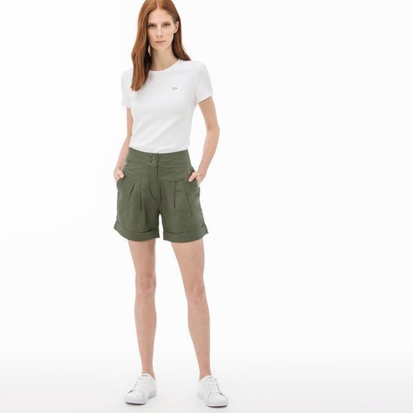 Lacoste Kadın Yeşil Şort